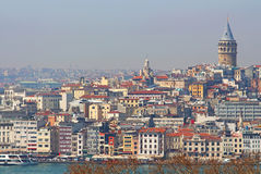 View of Istanbul with Galata Tower Stock Image