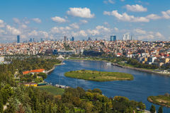 View of Istanbul and the Golden Horn. From the hill Stock Images