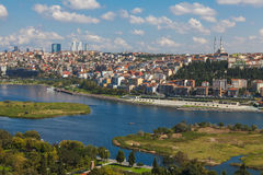View of Istanbul and the Golden Horn Stock Photography