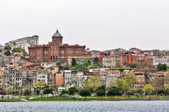 View of Istanbul from the gulf the Golden horn Royalty Free Stock Images