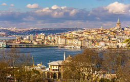 View of Istanbul over the Golden Horn inlet Stock Photos