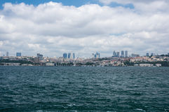 View of Istanbul. Panoramic view of Bosphorus, which separates Asian Turkey from European Turkey in Istanbul Royalty Free Stock Photos