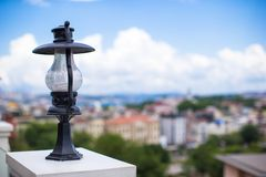 View of the Istanbul's skyline from terrace, Stock Photography