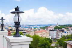 View of the Istanbul's skyline from terrace, Stock Images