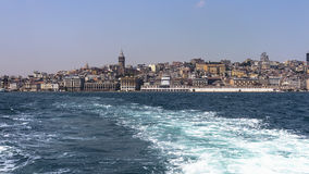 View of Istanbul from the sea Stock Images