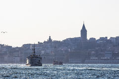 View of Istanbul from the sea Stock Photos