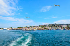 View of Istanbul by the sea. Royalty Free Stock Images