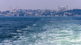 View of Istanbul from the sea Royalty Free Stock Image