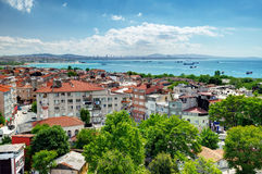 View of Istanbul and Sea of Marmara from Yedikule Fortress Stock Image