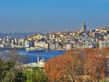 A view of Istanbul with Strait of Bosporus Royalty Free Stock Photography