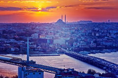 Istanbul at sunset Stock Image