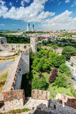 View of Istanbul from tower of Yedikule Fortress Royalty Free Stock Photos