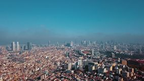 View of Istanbul Turkey from the sky. View of Istanbul Turkey  from the sky on a sunny day stock video footage