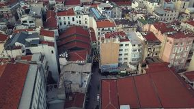 Lively Istanbul Turkey on a sunny day. View of Istanbul Turkey from the sky on a sunny day stock video footage