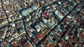 View of istanbul turkey from the sky. On a sunny day stock footage