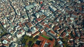 View of istanbul turkey from the sky. On a sunny day stock video