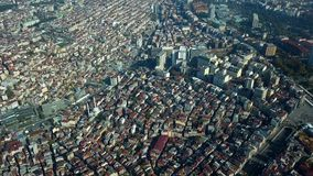 View of istanbul turkey from the sky. On a sunny day stock video footage