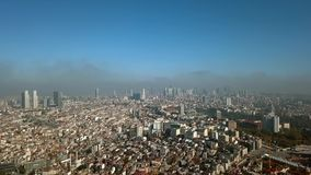 View of Istanbul Turkey from the sky. View of Istanbul Turkey  from the sky on a sunny day stock video