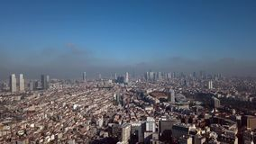 View of Istanbul Turkey from the sky. View of Istanbul Turkey  from the sky on a sunny day stock footage