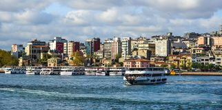 View of the Istanbul waterfront stock photography