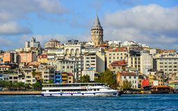 View of the Istanbul waterfront stock photos
