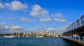 View of the Istanbul waterfront royalty free stock photo