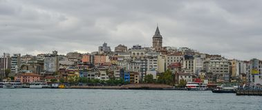 View of the Istanbul waterfront stock image
