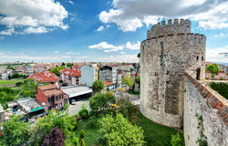 View of Istanbul from Yedikule Fortress Royalty Free Stock Image