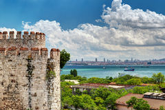 View of Istanbul from Yedikule Fortress Royalty Free Stock Photo