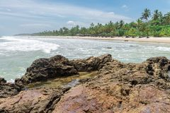 View of Itacarezinho beach in Bahia Brazil. View of Itacarezinho wonderful beach at Bahia state in Brazil stock photography