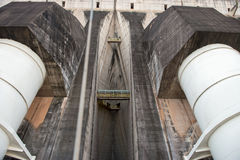 View of the Itaipu dam giant penstocks Stock Images