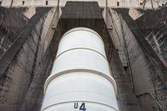 View of the Itaipu dam giant penstocks Royalty Free Stock Photo