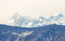 View of Italian Alps in Aosta Valley, Italy Royalty Free Stock Photo