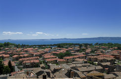 View at the italian city Bolsena Royalty Free Stock Photography