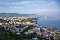View of Italian coast near Sorrento Stock Photo