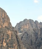 View of the Dolomites protected by UNESCO royalty free stock photography