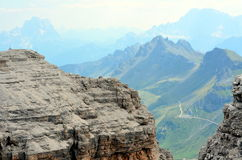 View of the Italian Dolomites protected by UNESCO Stock Photo