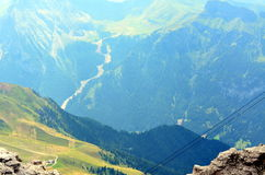 View of the Italian Dolomites protected by UNESCO Stock Photos