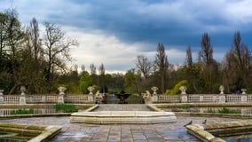 View from Italian Gardens into Kensington Gardens stock photos