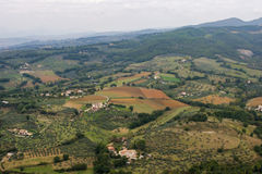 View of italian highlands Royalty Free Stock Photos