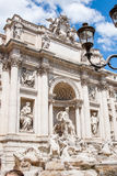 View of Italian national flag in front of Altare della Patria Royalty Free Stock Photo