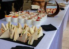 View of Italian sandwiches called tramezzini royalty free stock photography