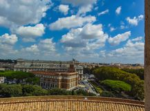 The view of Italian Supreme Court and Courthouse Building in Rom royalty free stock image