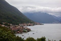 View of italian village on Como lake Royalty Free Stock Photography