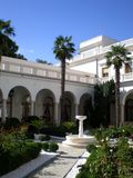 View of the Italian yard. View of the Italian Courtyard Crimea, Livadia Palace royalty free stock image