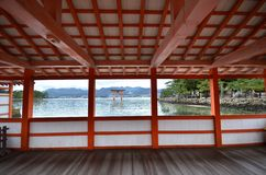 A view of Itsukushima Shrine Royalty Free Stock Images