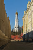 View of the Ivan the Great Bell tower, Moscow. Royalty Free Stock Photo