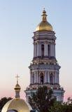 View on the ivening Kiev-Pechersk Lavra in Kiev. General view of the Kiev-Pechersk Lavra in Kiev. Ukraine Stock Photos