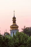 View on the ivening Kiev-Pechersk Lavra in Kiev. General view of the Kiev-Pechersk Lavra in Kiev. Ukraine Stock Photo