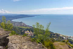 View from Iverian Mountain on Black Sea coastline Stock Images